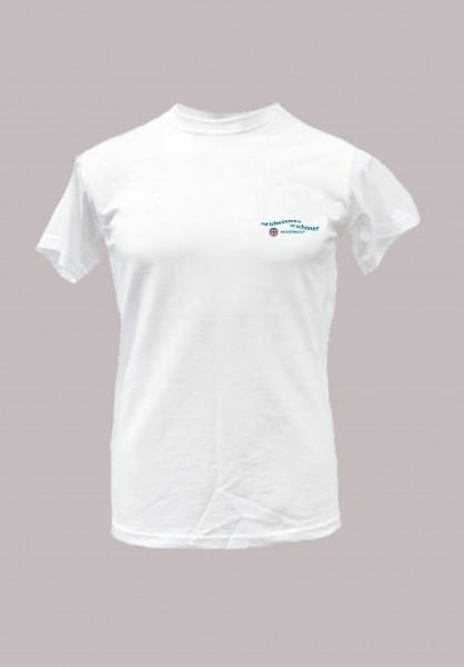 T-Shirt -Nur schwimmen-, für Kinder und Jugendliche weiss