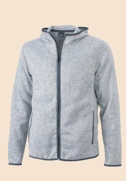 Knitted Fleece Hoodie